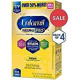 Enfamil NeuroPro Infant Formula - Brain Building Nutrition Inspired by Breast Milk - Powder Refill Box, 31.4 oz (Pack of 4)