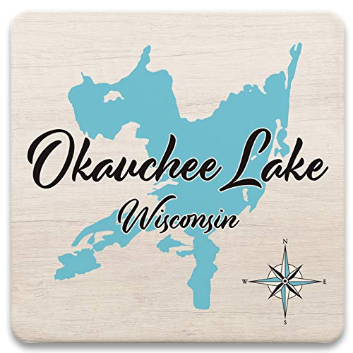 Eagle River Chain in VILAS, WI (790 LS) - Square Trivet for sale  Delivered anywhere in USA
