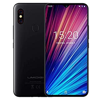"Unlocked Smartphones, UMIDIGI F1 Play Dual 4G Smart Phone Sim Free Android 9 Pie 48MP+8MP+16MP Cameras 5150mAh Battery 64GB ROM+6GB RAM 6.3"" FHD+ Mobile Phones [Black]"