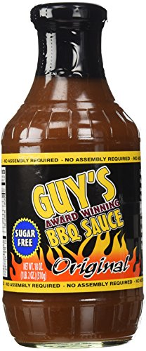 Guys Award Winning Sugar Free BBQ Sauce, Original, 18 Oz. (Low Carb Bbq)