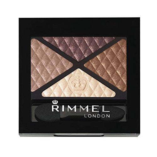 Rimmel London Glam'eyes Quad Eyeshadow, Smokey Brown, 0.14 O