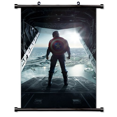 Captain America: The Winter Soldier Movie Fabric Wall Scroll Poster (16'' x 24'') Inches