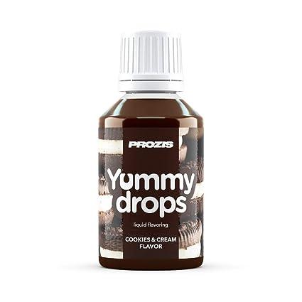Prozis Yummy Drops 50 ml Galletas y Crema - Añadir Sabor A Cualquier Alimento Extremadamente Concentrado