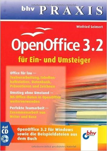Openoffice 32 Für Ein Und Umsteiger Amazonde Winfried