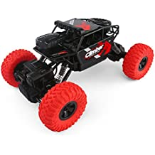 JJR/C Q45 RC Cars with HD Camera, Off-Road Rock Vehicle Remote Control 4WD 2.4G With Aerial WIFI Camera Real-time Image Transmission Dual Mode Fast Race Buggy Toy(Red)