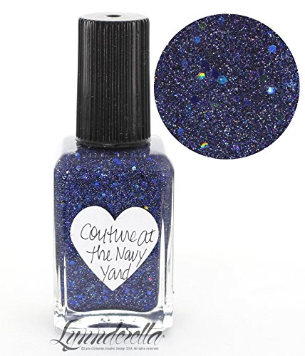 Lynnderella Micro Glitter Navy Blue Holographic Nail Polish—Couture at the Navy Yard by Lynnderella
