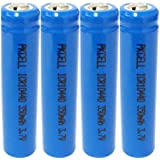 4pcs AAA ICR 10440 Rechargeable Lithium Ion Battery ,3.7v 350mah