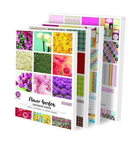 ColorBok Designer Scrapbooking Paper, 3 of 8.5 X 11 Inch, 1 of 12X12 Inch=4 Pads, Cutouts Plus 176 ()