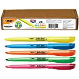 BIC Brite Liner Highlighter, Chisel Tip, Assorted Colors, 24-Count