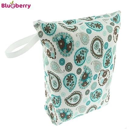 Blueberry wasserdichte Nasstasche/Wetbag - M (38x30cm) Auswahl Design Paisley