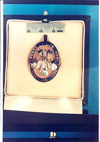 Vintage photo of Medallion from Strumpebandorden. One of the stolen objects from the burglary in Prince Charles39;s floor, where jewels for thousands of pounds are stolen.