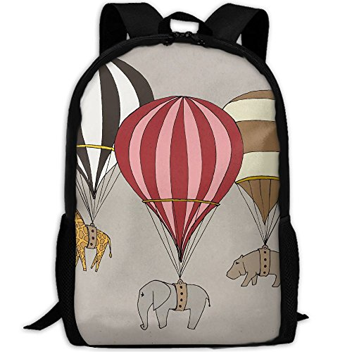 Hot Air Balloon Archival Art Print Interest Print Custom Unique Casual Backpack School Bag Travel Daypack Gift