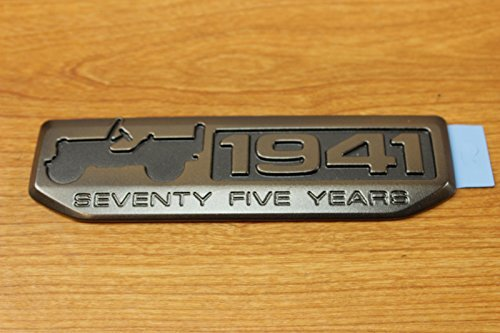 Jeep Wrangler Grand Cherokee Willys 75th Anniversary 1941 Emblem Badge OEM