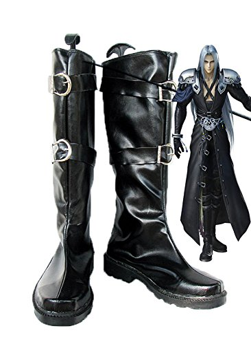 Final Fantasy VII FF7 Sephiroth Cosplay Shoes Boots Custom Made