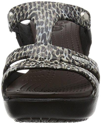 Femme Print V Leopard Escarpins Cyprus Leopard Multicolore Crocs W qTwYnU
