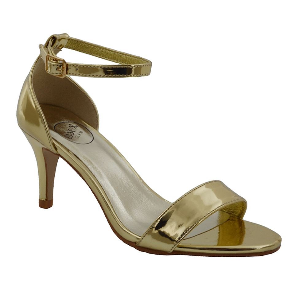 60780994089 Womens Low Heel Sandals Peep Toe Stiletto Ladies Barely There Ankle Strap  Shoes