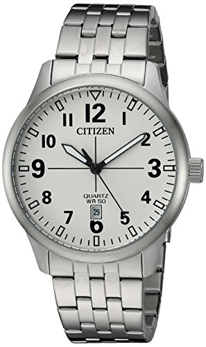 Citizen-Mens-Quartz-Stainless-Steel-Casual-Watch-ColorSilver-Toned-Model-BI1050-81B