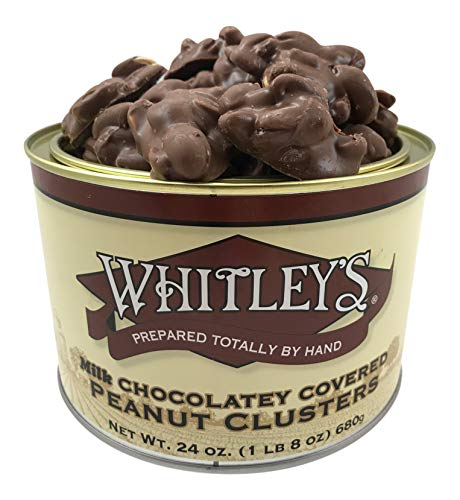 Cluster Peanut Chocolate Milk - Whitley's Milk Chocolatey Covered Peanut Clusters 24 Ounce Tin