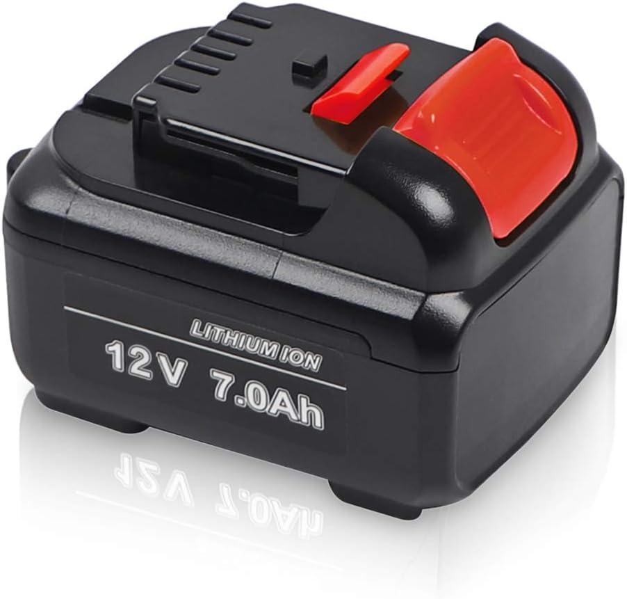 Jialitt 12V 7.0Ah Replacement Battery for Dewalt 12V Cordless Power Tools Lithium-Ion Battery DCB120 DCB121 DCB123 DCB127 DCB127-2