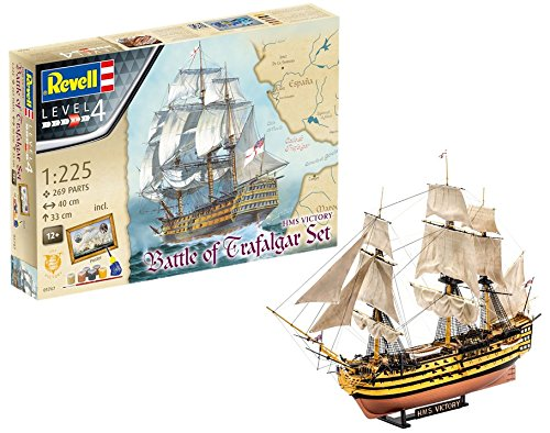 - Revell Revell05767 HMS Victory BATTLE OF TRAFALGAR Gift-Set by