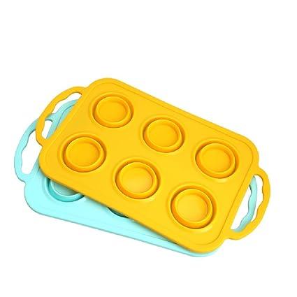 Muffin Molde Silicona Durable Apto para Microondas ...