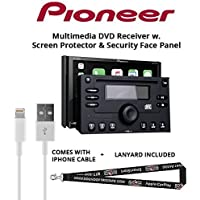 Pioneer AVH-2330NEX 7 DVD Receiver Apple CarPlay Built in Bluetooth with Screen Protector, Double din Panel, Lightening to USB Adapter and a FREE SOTS Lanyard