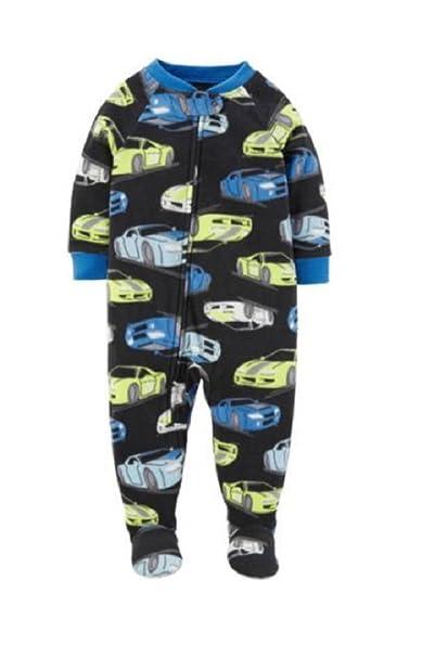 80bdf04cc0 Amazon.com  Child of Mine Infant Toddler Fire Truck Blanket Sleeper (Black  Race Cars
