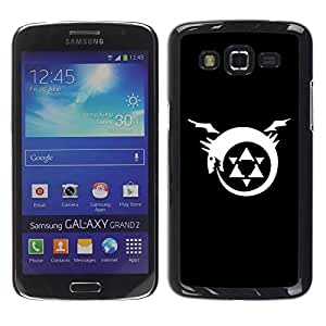 Be Good Phone Accessory // Dura Cáscara cubierta Protectora Caso Carcasa Funda de Protección para Samsung Galaxy Grand 2 SM-G7102 SM-G7105 // Triforce Dragon