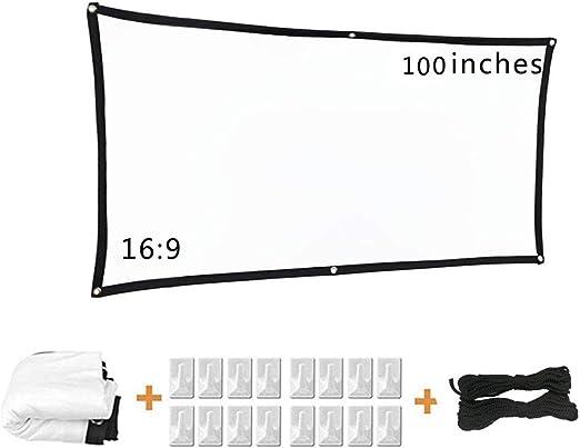 ZOOMY Pantalla de proyector 100 Pulgadas Pantalla de proyector de ...