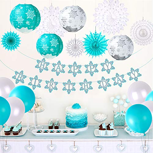 TUPARKA Frozen Birthday Party Supplies for Winter Frozen Birthday Party Decorations Winter Wonderland Party Winter Onederland 1st Girl