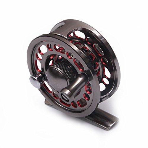 Fertile Fishing Fly Fishing Reel CNC Aluminum D-50 Fishing Wheel Full Metal Gear Ice Fishing Fly Reel Center Pin - Center Pin Fishing Reels