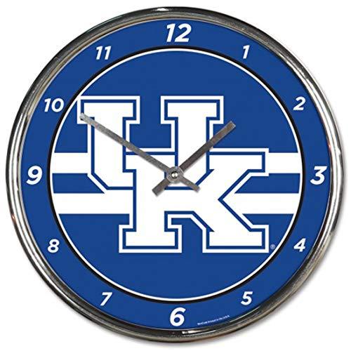 - University of Kentucky UK Wildcats Chrome Wall Clock 12 inches Round