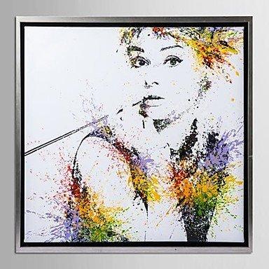 encadrée art de toile, la couleur éclabousse Audrey Hepburn avec cadre étiré la couleur éclabousse Audrey Hepburn avec cadre étiré DL.Peinture à l'huile