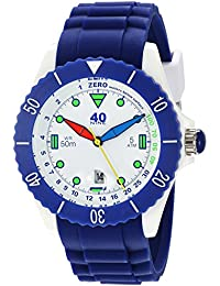 Quartz Plastic and Silicone Casual Watch, Color:Blue (Model: 40NINE02/FUN40)