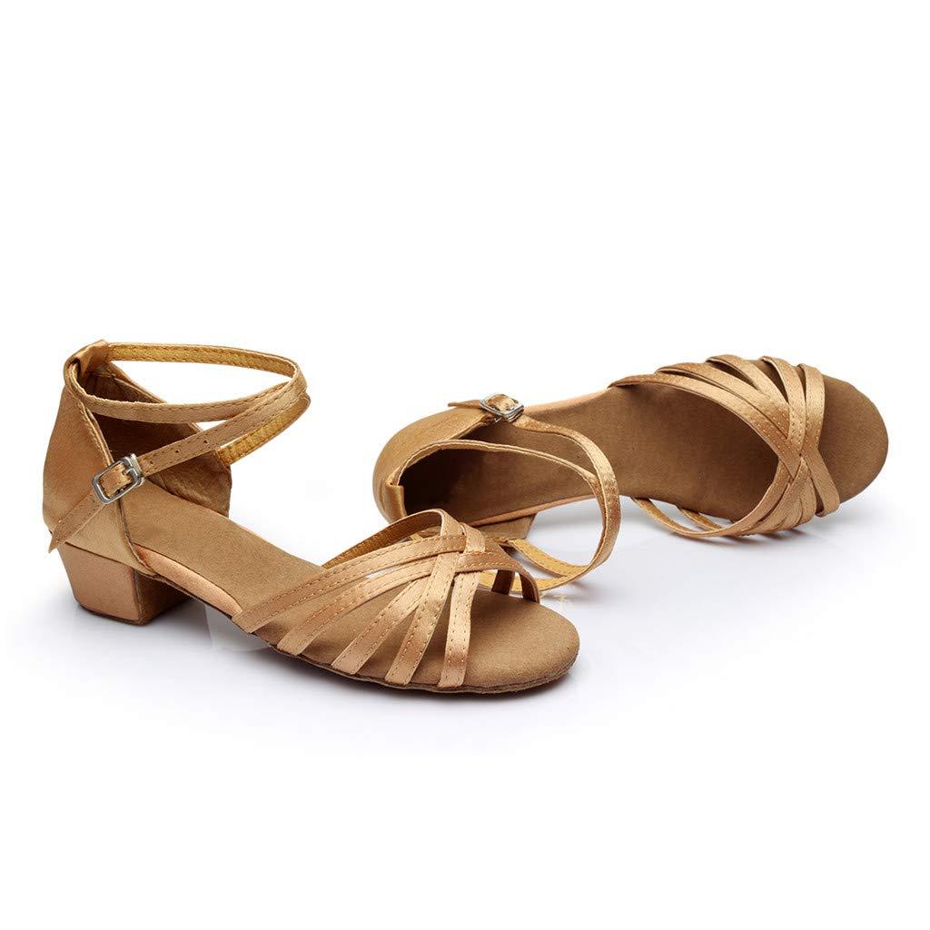 zarupeng✦‿✦ Baile de Moda para Mujer Rumba Waltz Baile de Baile Latino Salsa Zapatos de Baile Sandalias de tac/ón bajo