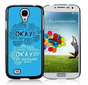 Samsung Galaxy S4 Cover Case,Okay Okay 2 Black Cool Customized Samsung Galaxy S4 I9500 Case