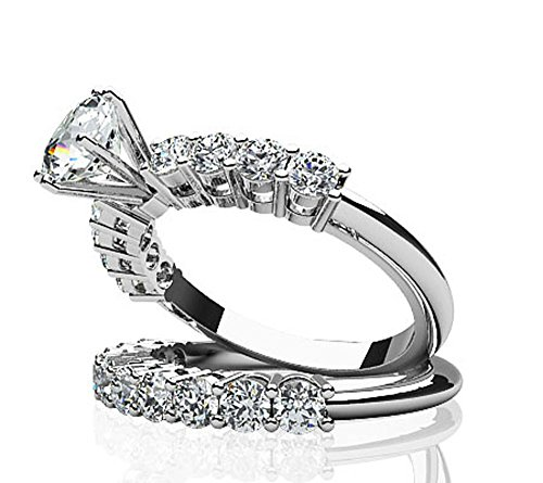 14K Or blanc True Romance de mariage Diamant
