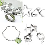 Ainest Ocean Seahorse Starfish Shell Baking Biscuit Cookie Cutter Set Decorating Mould