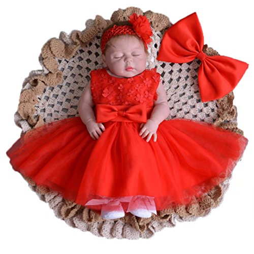ADHS Toddler Girl Newborn Gowns Prom Party Wedding - Dresses Occasion Newborn Special