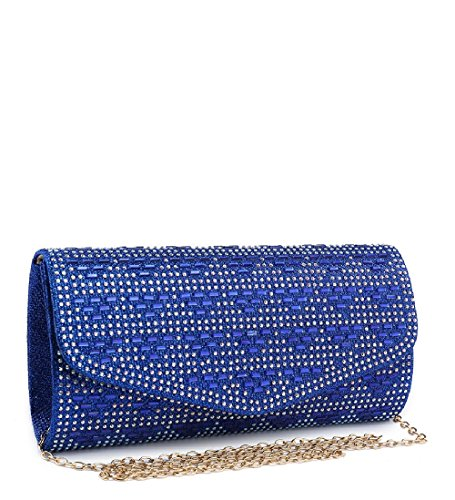 Bag Gold Clutch Women's Glitter Envelope Ladies Handbag ME68023 Party Evening Diamante fpnqSAvxA