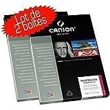 Lot de 2 boites de Canson Infinity PhotoSatin 270 gr A4 25 feuilles