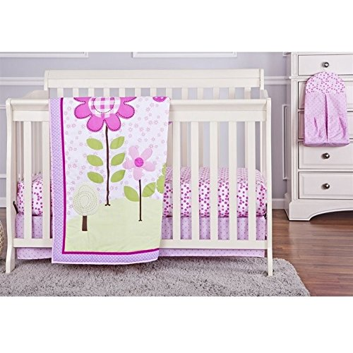 Dream-On-Me-Spring-Garden-5-Piece-Reversible-Full-Size-Crib-Bedding-Set