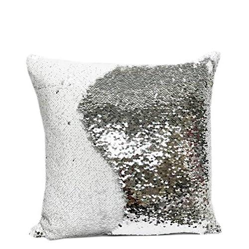 Fennco Styles Glam Mermaid Sequin Throw Pillow - 16