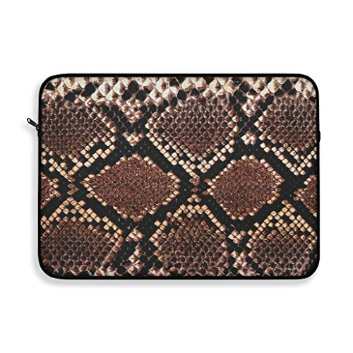 12 inch Protective Laptop Sleeve Universal Cover Polyester Durable Case Lightweight Travel Pocket for MacBook Pro Air Asus HP Dell Samsung Laptops EDC Bag for Notebook Tablet - Snake Skin -  LLC Integral