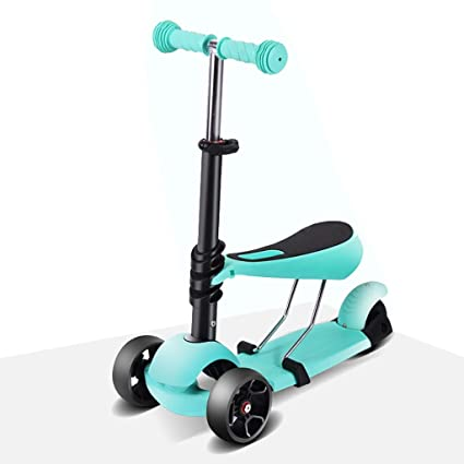 WYQ Kick Scooters para niños, Scooter Azul con Ruedas ...