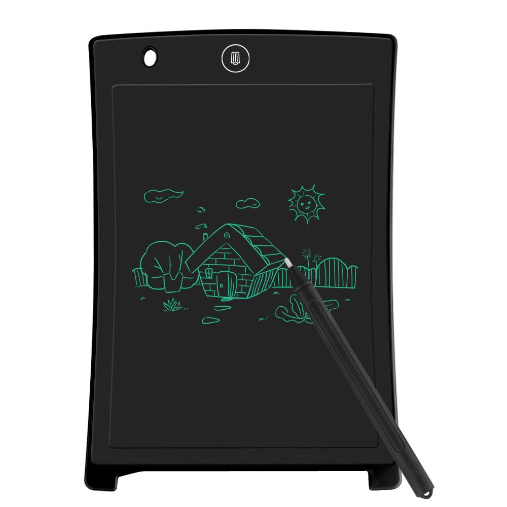 LCD Writing Tablet, Electronic Drawing Board and Doodle Board Gifts for Kids at Home and School (Black) by Sunany