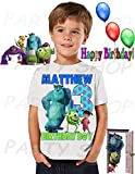Monsters inc Shirt, Add Any Name and Age, Monsters inc Birthday Party, Family Matching Shirts, Boys and Girls Birthday Shirt, Personalized Monsters inc Shirt unisex
