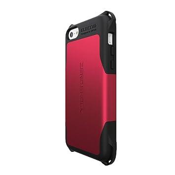 dcc29a7c63 ELECOM iPhone5C用 全方向衝撃吸収ケース ZEROSHOCKシリーズ レッド PS-A13ZERORD