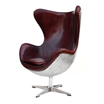 Entzuckend Phoenixarts Echtleder Vintage Alu Sessel Retro Ledersessel Braun Drehsessel  Schwingsessel Design Lounge Clubsessel Sofa Möbel 438