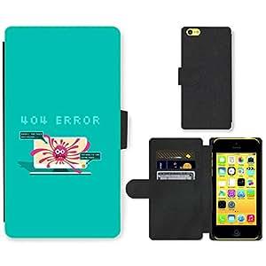 Hot Style Cell Phone Card Slot PU Leather Wallet Case // M99999680 Splash 404 Error Vector Design // Apple iPhone 5C